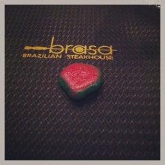 Photo taken at Brasa Brazilian Steakhouse by Holly R. on 2/23/2013