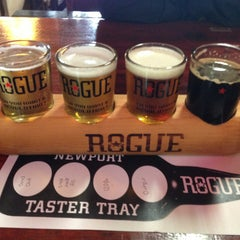 Photo taken at Rogue Brewers on the Bay by Nick D. on 3/11/2013