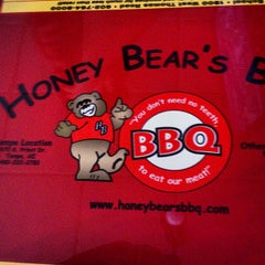Photo taken at Honey Bear's BBQ by Thomas M. on 7/4/2013