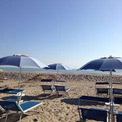 Photo taken at Attilio Beach Pleasure Club by Pier Luca S. on 4/14/2013
