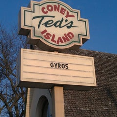 Photo taken at Ted's Coney Island by Aaron S. on 4/26/2013