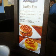 Photo taken at Cinnabon Bakery Cafe by Sa3d Ⓜ. on 11/27/2012
