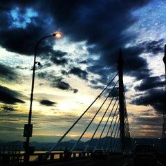 Photo taken at Penang Bridge by Liz W. on 2/23/2013