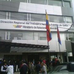 Photo taken at Ministerio de Relaciones Laborales by Roberto V. on 10/25/2012