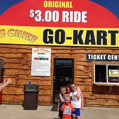 Photo taken at Big Chief's Go Carts by Marcia T. on 6/19/2013