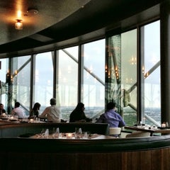 Photo taken at Five Sixty by Wolfgang Puck by CRATEinteriors on 4/24/2013