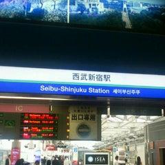 Photo taken at 西武新宿駅 (Seibu-Shinjuku Sta.) (SS01) by Masakazu M. on 6/21/2013