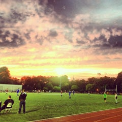 Photo taken at McCarren Park Track by Ron V. on 7/22/2013