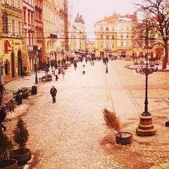 Photo taken at Площа Ринок / Rynok Square by Petro N. on 4/1/2013