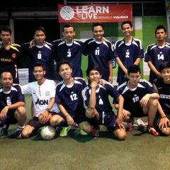 Photo taken at Planet Futsal by inggid n. on 11/7/2012
