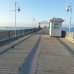 Photo taken at Belmont Veterans Memorial Pier by Jay V. on 10/7/2012