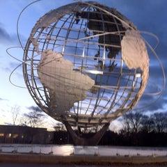 Photo taken at The Unisphere by José Eduardo Ferreira J. on 12/23/2012