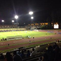 Photo taken at UCLA Marshall Field (in Drake Stadium) by Eric M. on 11/2/2013