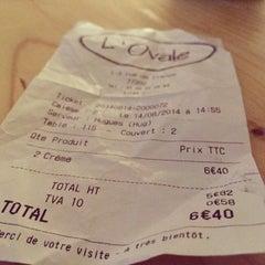 Photo taken at L'Ovale Café by Johannes E. on 8/15/2014