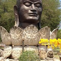 Photo taken at วัดธรรมิกราช (Wat Thammikarat) by Namwaan P. on 4/7/2012