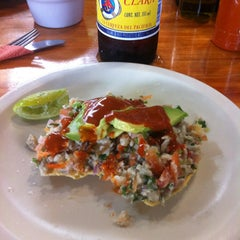 Photo taken at Las 8 tostadas by Victor E. on 3/27/2013