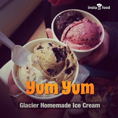 Photo taken at Glacier Homemade Ice Cream by Andrea J. on 3/25/2013