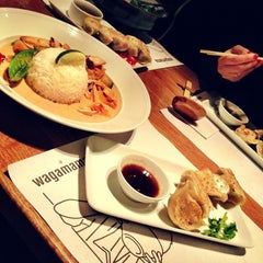 Photo taken at Wagamama by Fruzsina P. on 1/20/2013