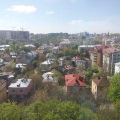 Photo taken at Стадіон Лісотехнічного університету by Iryna B. on 4/28/2016