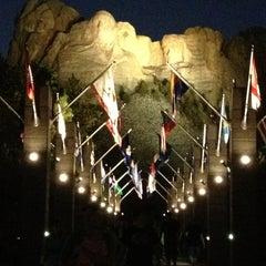 Photo taken at Mount Rushmore National Memorial by Kayleen B. on 8/19/2013