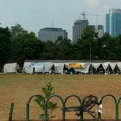 Photo taken at Lapangan Blok S by Tammy on 9/26/2014