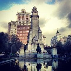 Photo taken at Plaza de España by DAN SAENZ on 1/10/2013