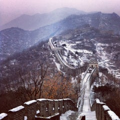 Photo taken at 慕田峪长城 Great Wall at Mutianyu by Theo P. on 12/20/2012