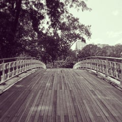 Photo taken at Central Park - Gothic Bridge by Dominick M. on 7/29/2013