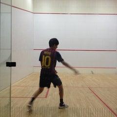 Photo taken at Gosman Gym by Bin K. on 1/22/2013