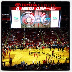 Photo taken at Toyota Center by Allison M. on 4/2/2013