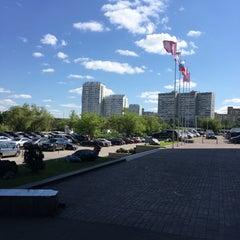 Photo taken at БЦ «Нагатинский» by Ilya I. on 5/13/2016