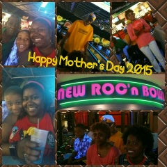 Photo taken at New Roc n Bowl at Funfuzion New Roc City by Candise J. on 5/10/2015