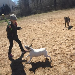 Photo taken at Oakton Dog Park by Linda H. on 3/28/2015
