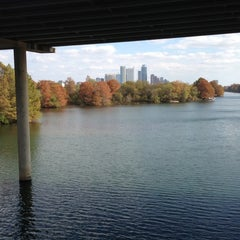 Photo taken at Lady Bird Lake Under Mopac Bridge by Natasha M. on 11/22/2012