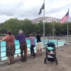 Photo taken at Astoria Park Pool by Samuel K. on 8/30/2014