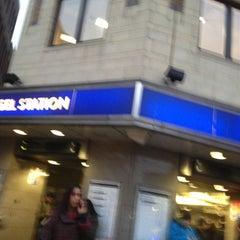 Photo taken at Angel London Underground Station by Rhammel A. on 3/8/2013