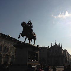 Photo taken at Piazza San Carlo by Martino S. on 11/3/2012