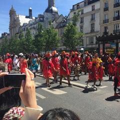 Photo taken at Métro Saint-Paul – Le Marais [1] by Mouna B. on 6/29/2015