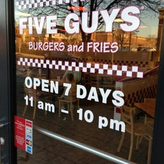 Photo taken at Five Guys by Jan D. on 3/8/2013