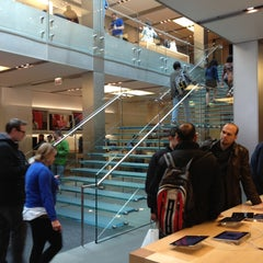 Photo taken at Apple Store, North Michigan Avenue by David A. on 4/20/2013