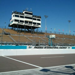 Photo taken at Phoenix International Raceway by Christopher R. on 3/1/2013