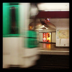 Photo taken at Métro Madeleine [8,12,14] by Gemma D. on 5/19/2013