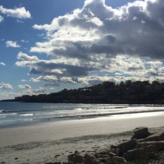 Photo taken at First Beach by Kristal R. on 10/26/2014