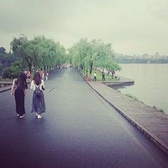 Photo taken at 白堤 Bai Causeway by Evan L. on 5/18/2015