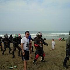 Photo taken at Pantai Pelabuhan Ratu by syaiful a. on 11/16/2014