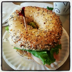Photo taken at Bodo's Bagels by Adam S. on 6/2/2013