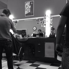 Photo taken at Grand Royal Barbers by Colin on 11/13/2013