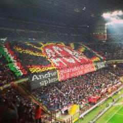 """Photo taken at Stadio San Siro """"Giuseppe Meazza"""" by Vito S. on 4/14/2013"""