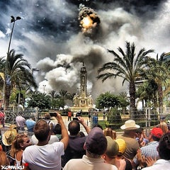 Photo taken at Plaza de Los Luceros by Xavier M. on 6/21/2013