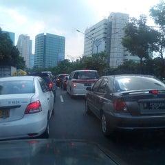 Photo taken at Jalan H.R. Rasuna Said by Bramantio A. on 5/6/2014